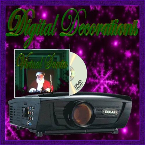 digital christmas decoration lcd projector virtual santa dvd christmas outdoor motion light projector snow holiday house decoration