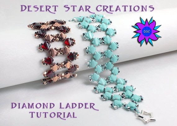 Diamond Ladder Bracelet Tutorial PDF by DesertStarCreations, $6.50