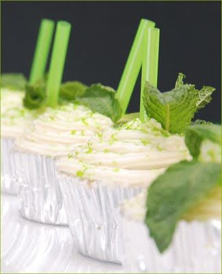 Mint julep cupcakes. Perfect for a Kentucky Derby party.