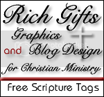 Rich Gifts Graphics & Blog Design for Christian Ministry