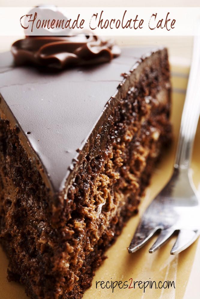 Easy Homemade Chocolate Cake   Recipes 2 Repin