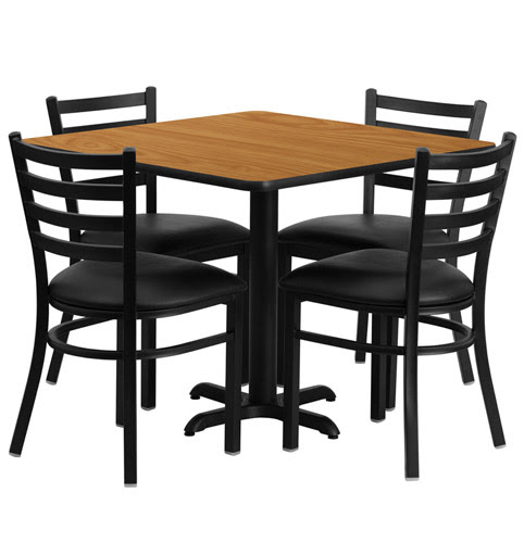 Cafeteria Breakroom Square Dining Table Sets-Restaurant ...
