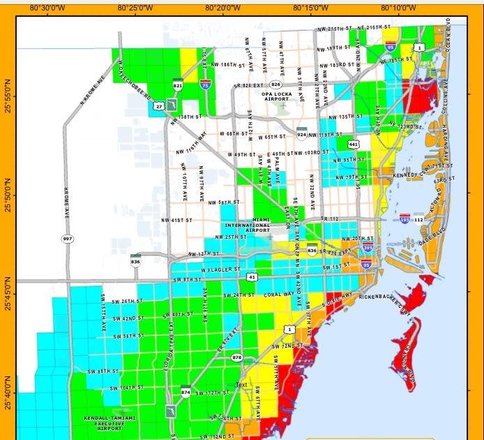 miami dade flood zone map | zip code map