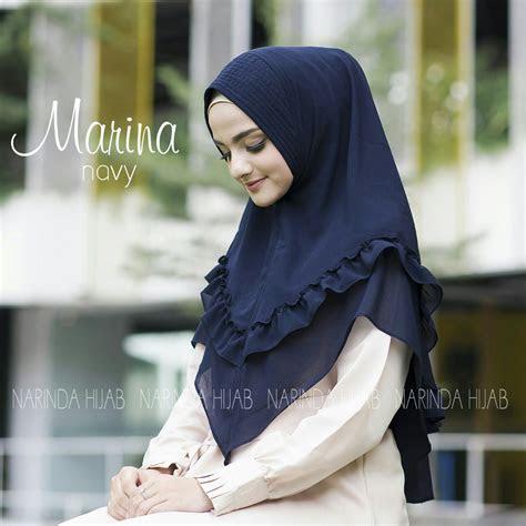 jilbab instan bergo ceruti marina terbaru  simple