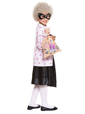 David Walliams Gangsta Granny with Wig   Child Costume