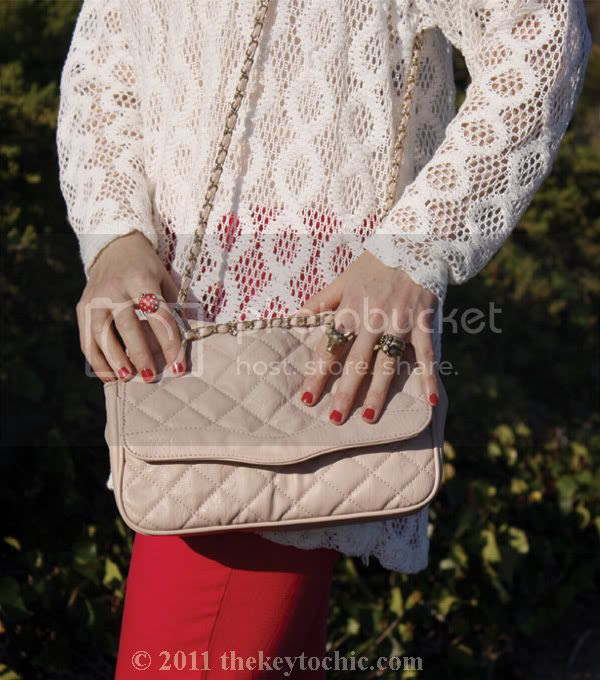vintage crochet sweater, hot pink jeans, Ego & Greed floral Bowler boots, Aldo quilted handbag, California fashion blog