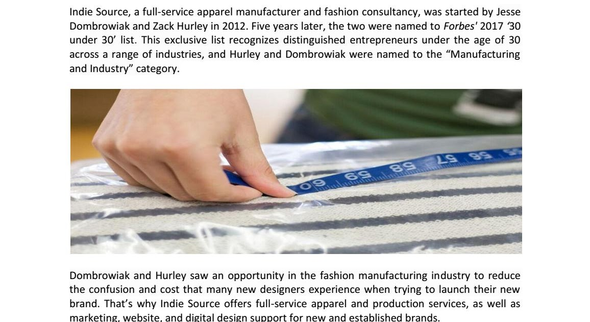 clothing manufacturers for startups full service apparel manufacturer