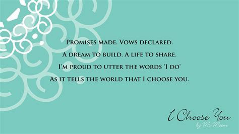 I Choose You ~ A Wedding Poem. Beautiful wedding reading