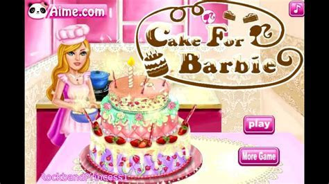 Cake For Barbie Game   Barbie Cake Decorating Games