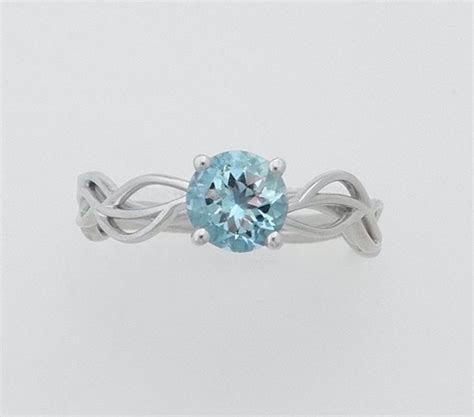 Handmade Custom Aquamarine Engagement Ring by Julia Failey