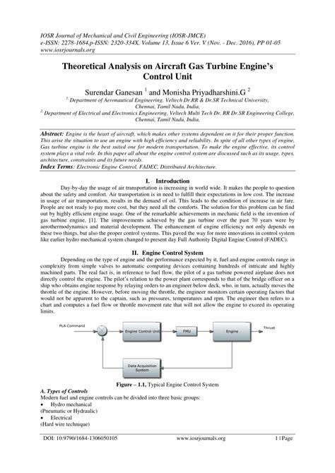 (PDF) Theoretical Analysis on Aircraft Gas Turbine Engine