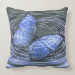 Deep Blue Butterfly Ripples Pillows