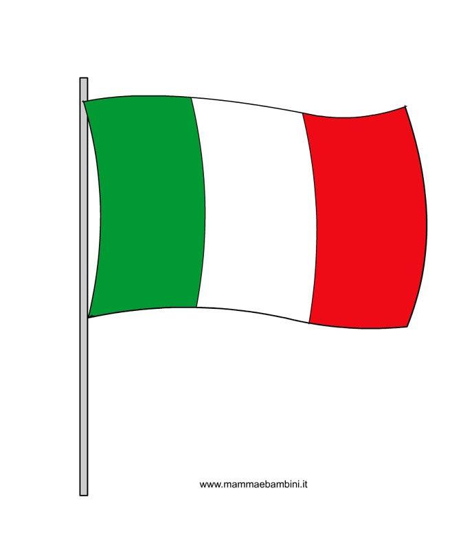 La Bandiera Italiana Mamma E Bambini