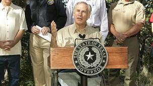 El gobernador de Texas Greg Abbott (republicano)