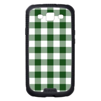 Green and White Gingham Pattern Galaxy SIII Case