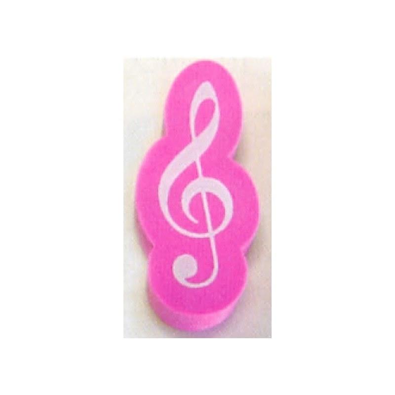 Partituras Y Metodos Musicales Goma De Borrar Forma Clave De Sol Rosa