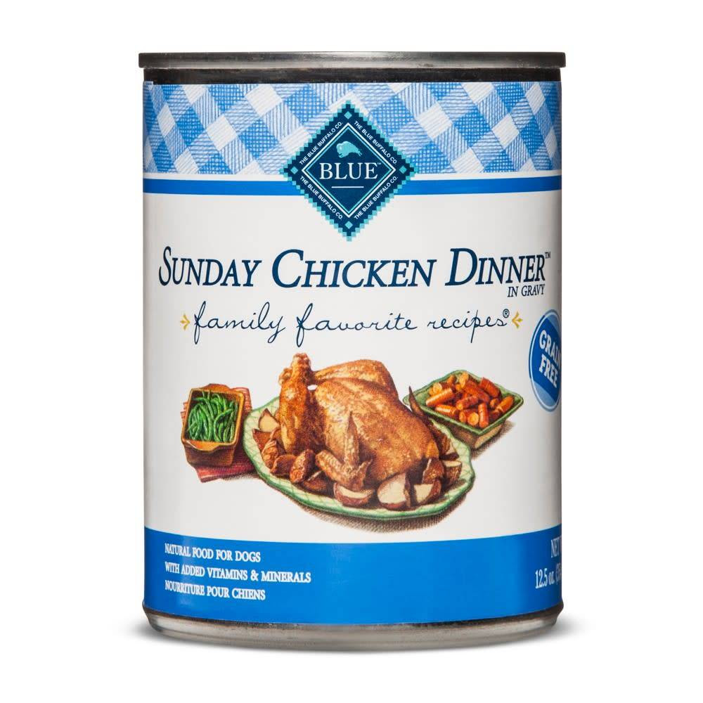 Blue Buffalo Blue Sunday Chicken Dinner 125 Oz Fields Petcare