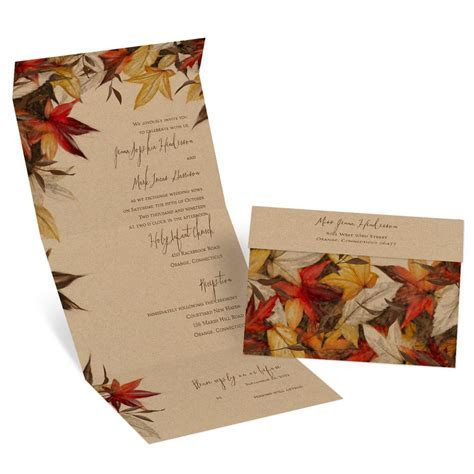 Autumn Maple Seal and Send Invitation   Invitations By Dawn