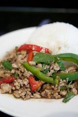 Gai Phat Gapao Lart Khao, King of Thai Noodle, San Francisco