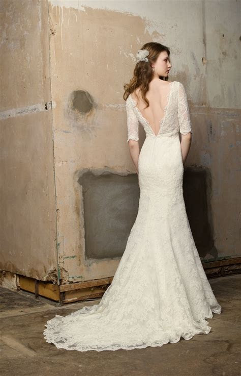 Blog of Wedding and Occasion Wear: Open Back Lace Sleeved