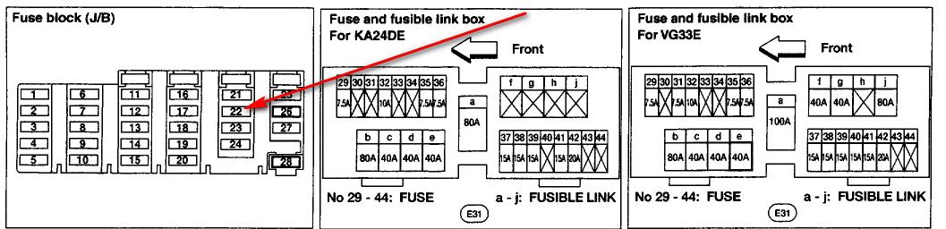 2003 Xterra Fuse Box Location