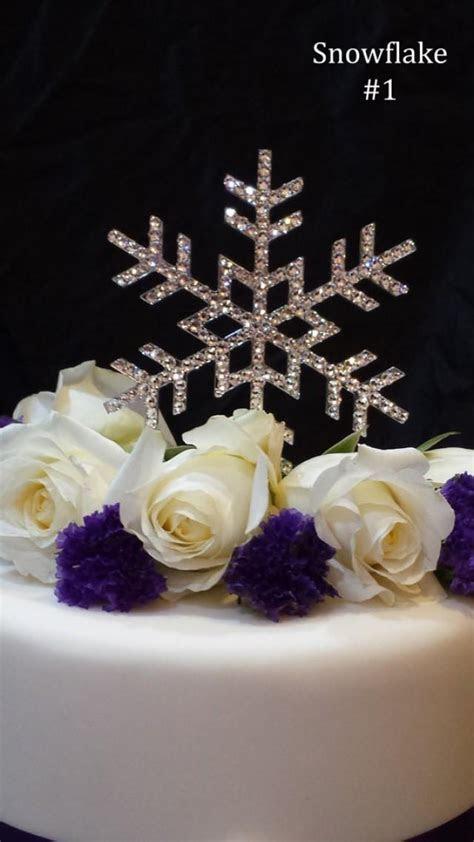 5 Inch Snowflake Wedding Cake Topper With Swarovski