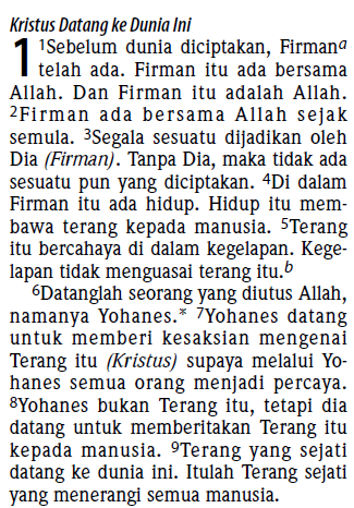 The Bible in Indonesian