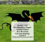 Fire Breathing Dragon Yard Art Woodworking Pattern - fee plans from WoodworkersWorkshop® Online Store - dragons,black shadows,silhouettes,yard art,painting wood crafts,scrollsawing patterns,drawings,plywood,plywoodworking plans,woodworkers projects,workshop blueprints