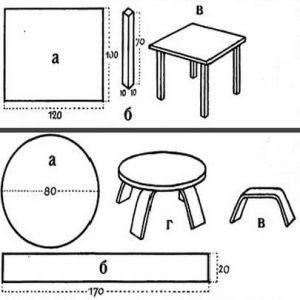 мебель из картона для кукол 1