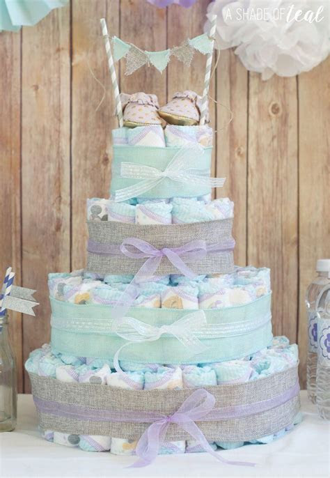 Rustic Glam Baby Shower Diaper Cake Pictures, Photos, and