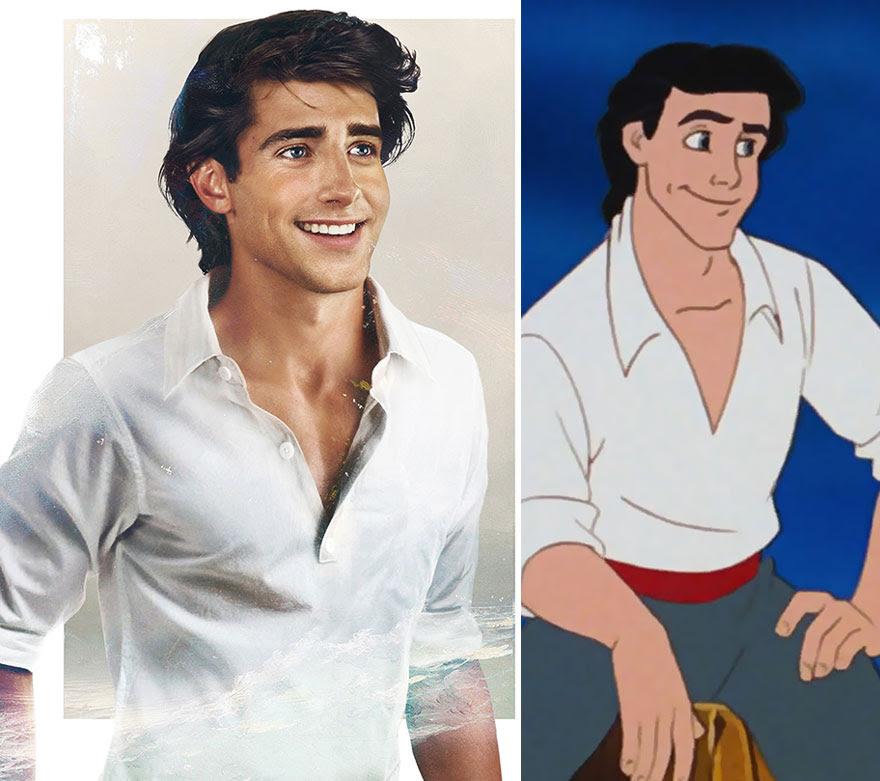 Príncipes Disney como nunca os viram.