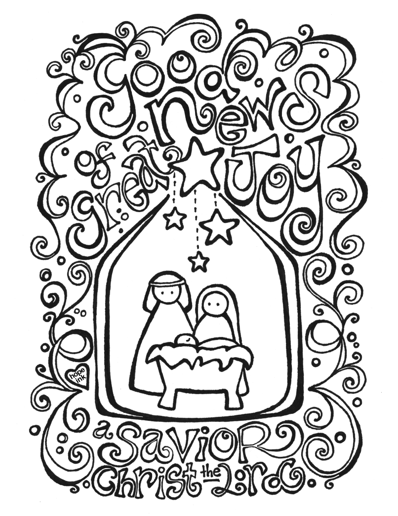Free Nativity Coloring Page   Coloring Activity Placemat  Fab N\u002639; Free