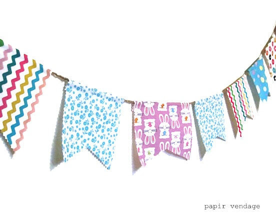 Easter Bunting Banner, Easter Decorations, Spring Bunting Banner, 9ft Fabric Bunting Banner, Spring Trends, Bunnies, Easter Eggs, Flowers, - papirvendage