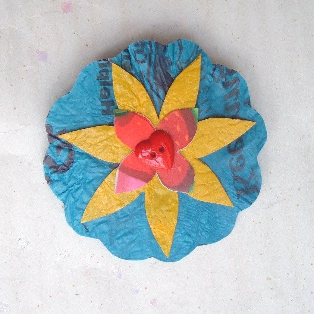 Flower Brooch - sweetheart
