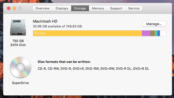 """How To Reduce """"System"""" Storage Size On A Mac"""