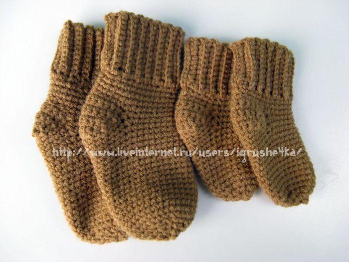 мир вязания схема вязания носков крючком