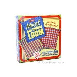 POT HOLDER weaving LOOM & loops colored FABRIC kid NEW
