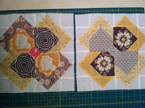 Flower Patch QAL blocks 1 & 2