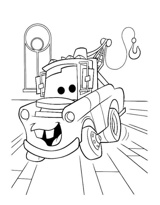 Disegno Di Cricchetto Cars Da Colorare Per Bambini