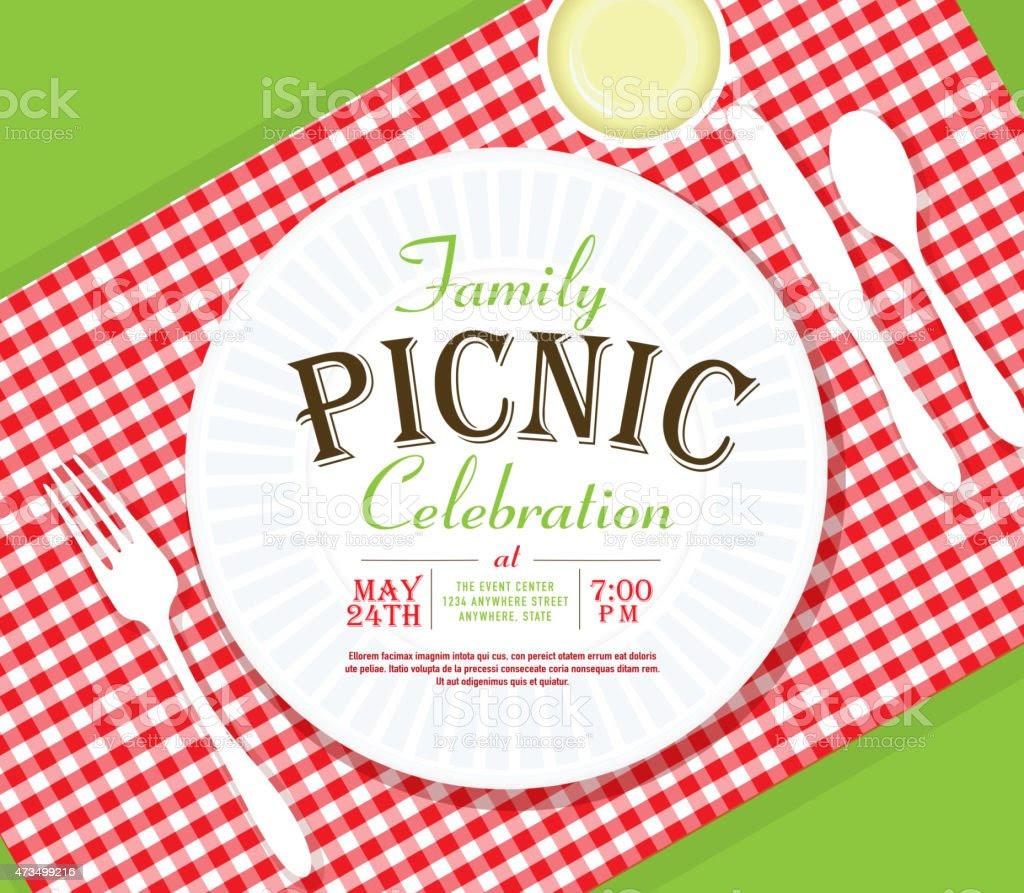 picnic invitation design template angle placesetting vector id473499216