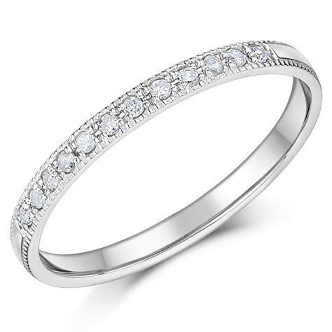 2mm Palladium Diamond Eternity Wedding Rings   Palladium
