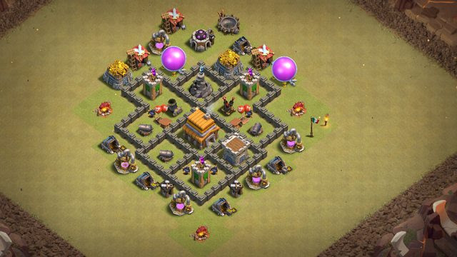 Town Hall 5 War Base Help