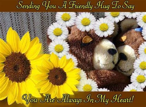 Friendly Hugs Just For You! Free Friendly Hugs eCards