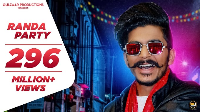GULZAAR CHHANIWALA - RANDA PARTY  Lyrics| Latest Haryanvi Song 2020