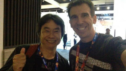 Shigeru Miyamoto at E3 1014 on Paul Gale Network