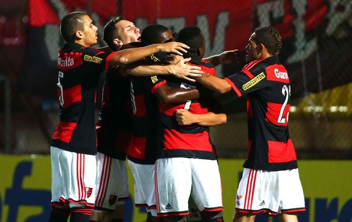 Comemoração do Flamengo contra o Taboão da Serra - Copinha (Foto: Marcos Bezerra / Agência estado)