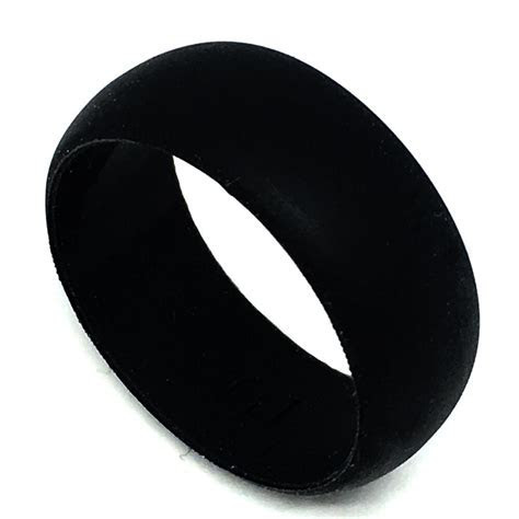 8mm Black Men Medical Flexible Hypoallergenic Rubber