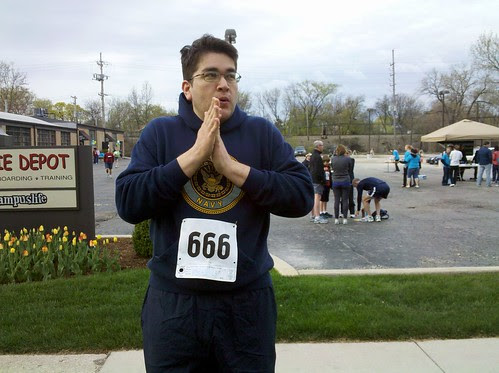 about to do a race. nice number.
