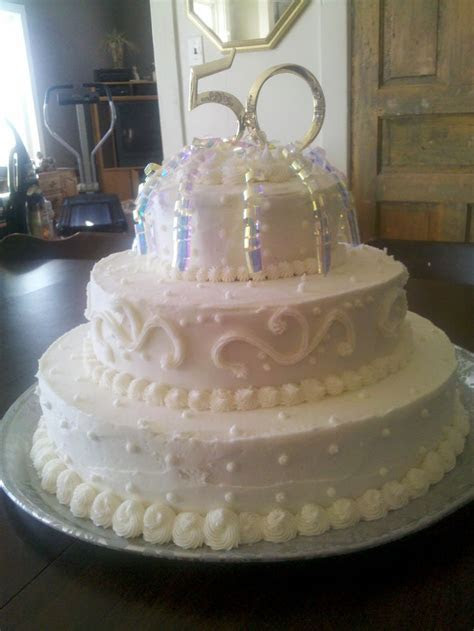 50th Wedding Anniversary Cake   50th anniversary ideas