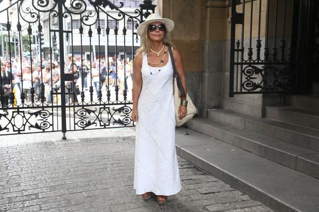 Bruna Lombardi no velório do ator Paulo Goulart (Foto: Manuela Scarpa /Foto Rio News)